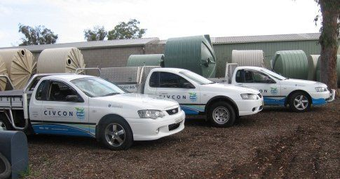 Civcon Water Services Vehicles