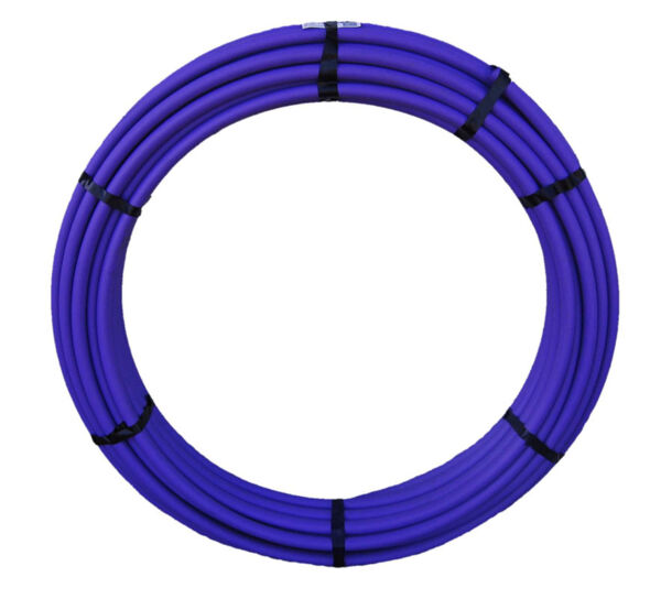 Lilac Stripe Low density polypipe 25mm x 50m Product Photo