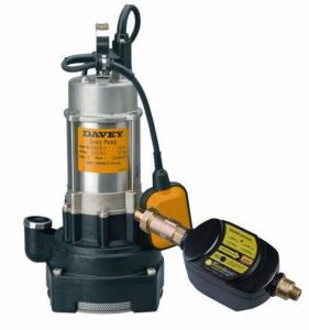 Rainbank with Davey D53A/B Twin impeller Submersible Pump (Sump