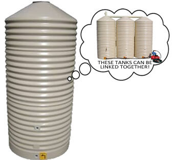 Home/Light Duty Corrugated Round Water Tank - 1,000 Litre Product Photo