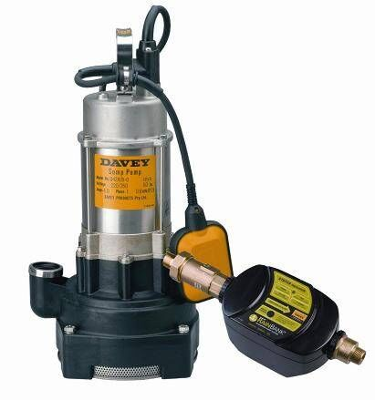 Rainbank with Davey D53A/B Twin impeller Submersible Pump (Sump Product Photo