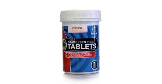 Focus Stabilised Chlorine Tablets Product Photo