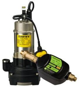 Rainbank with Davey D42A/B Twin impeller Submersible Pump (Sump